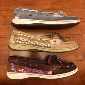 Sperry Top-Sider Boat Shoes 3 Pair Size 8.5